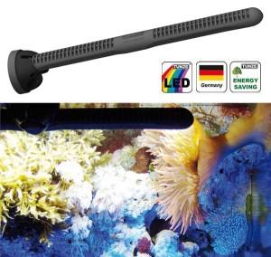 Si rivelano particolarmente adatte anche le lampade a LED, come questa della TUNZE. Nel caso specifico questa lampada può trovare impiego anche in acquari di piccole dimensioni.